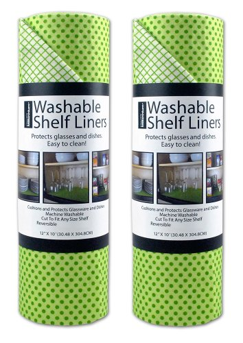 Washable Paper - DII Non Adhesive Cut to Fit Machine Washable Shelf Liner Paper For Cabinets, Kitchen Shelves, Drawers,  Set of 2, 12 x 10