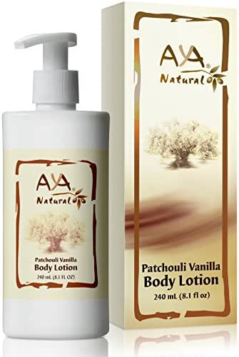 All Natural Body Lotion for Dry Skin - Vegan Anti Aging Hydrating Anti Itch Body Lotion Moisturizer with Patchouli Vanilla Scent for Men & Women
