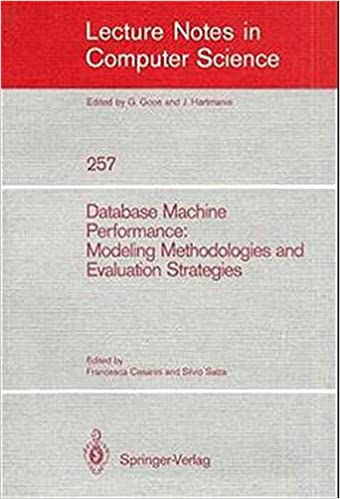 Téléchargement gratuit d'ebooks en pdf Database Machine Performance: Modeling Methodologies and Evaluation Strategies (Lecture Notes in Computer Science) (French Edition) DJVU