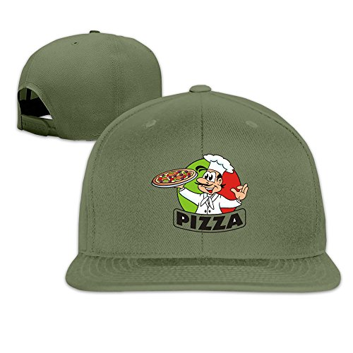 Funny Pizza Sports Flat Caps ForestGreen