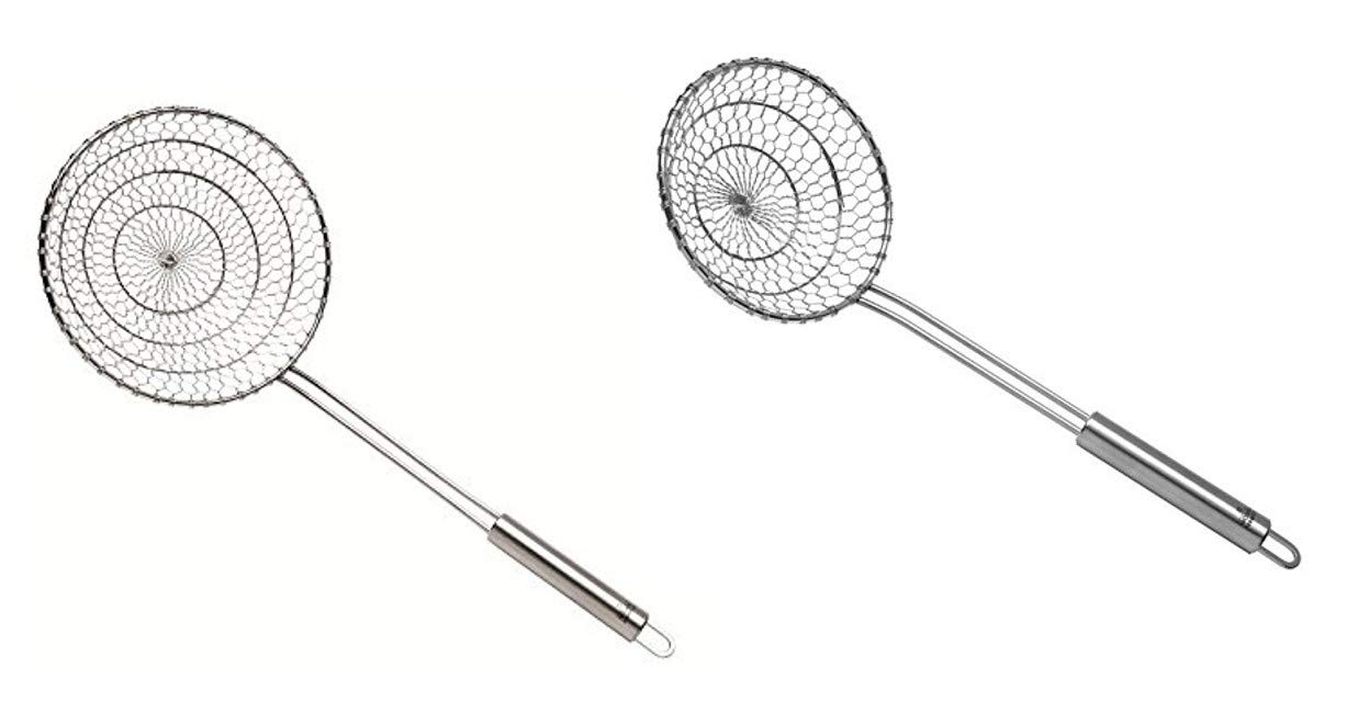 Kuhn Rikon Stainless Steel Spider Skimmer, Large and Small 2-Piece Set by Kuhn Rikon