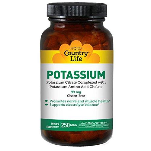 Country Life Potassium 99 Mg, 250-Count