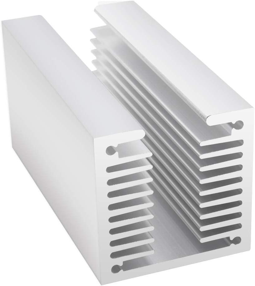 Aluminum Heat Sink Heatsink Module 3.15x 1.57x 1.57 inch Heat Sink Cooler Fit for Electronic Electrical Facilities Computer