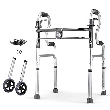 Andador plegable aluminio ligero Andador plegable con ruedas para ...