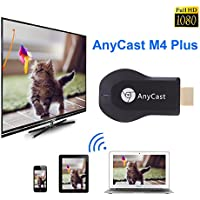 NAMEO AnyCast Wireless WiFi Display Dongle, AnyCast M4 Plus Airplay 1080P Wireless WiFi Display TV Dongle Receiver HDMI TV Stick DLNA Miracast for Android Smart Phones Tablet PC to HDTV