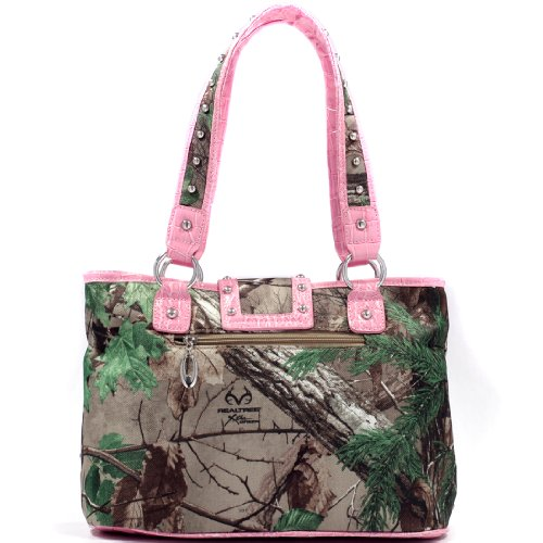 Trim Trim Studded Camo with and Croco Buckle Realtree Accent Bag Black Camouflage XG Tote XG q0Sw66E