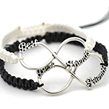 Wintefei Handmade Letter Print Bracelet Bangle Braided Rope Friendship Gift Jewelry