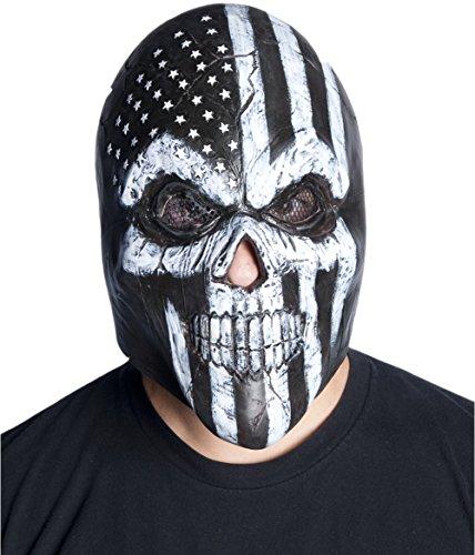 Morbid Enterprises Old Glory Latex Mask Adult Skeleton Biker Skull Dude Halloween Costume Accessory (Biker Dude Halloween Costume)