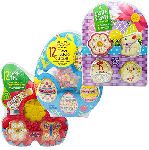 (Easter Sugar Cookie Decorating Kit For Kids - Cookie Decoration Supplies