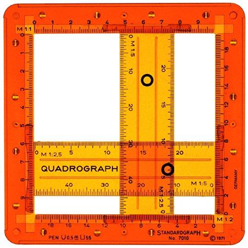Ajustable para silla de oficina Quadrograph diseno de cuadrado lagartija caja rectangular de simbolos plantillas de para dibujar con diseno de 1:2, 1:2 12 1:5 bascula de precisio