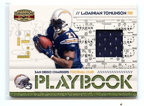 2008 Gridiron Gear Playbook Jersey Prime #PL-19 LaDainian Tomlinson - Gear 2008 Gridiron