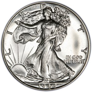 1946 Walking Liberty Half Dollar Brilliant Uncirculated 90% Silver US Coin MS/BU Fifty Cents ()