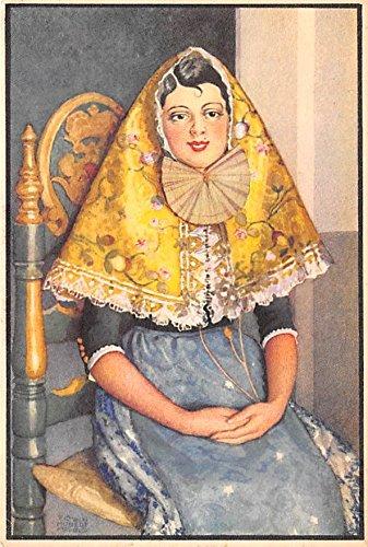 Lady Of Spain Costume (Woman in costume Spain Postcard)