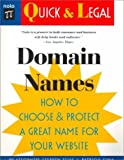 img - for Domain Names: How to Choose and Protect a Great Name for Your Website (Quick & Legal) by Stephen Elias (2000-05-03) book / textbook / text book