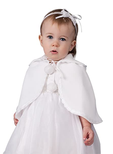 Capa blanca de bebé para bautismo blanco Talla única ...