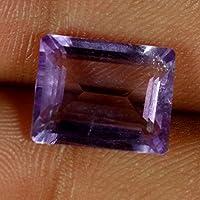07.00CTS. 100% naturale blu pietra ametista taglio anello Octogon Cab gemma