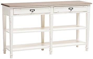 Enjoyable Amazon Com Baxton Studio Console Table In Distressed White Spiritservingveterans Wood Chair Design Ideas Spiritservingveteransorg