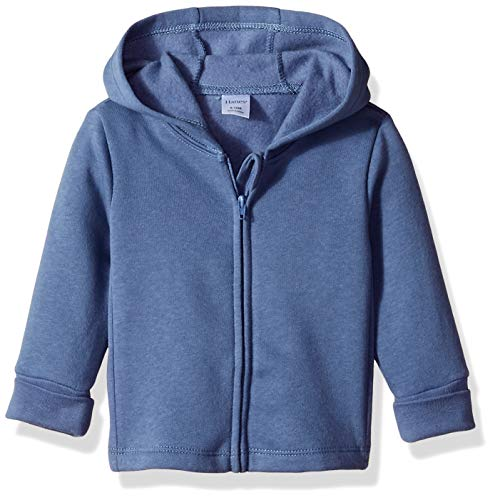 Hanes Ultimate Baby Zippin Fleece Hoodie, Dark Blue, 18-24 Months