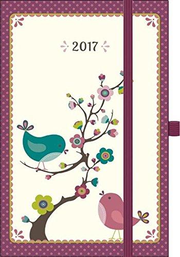 Premium Timer Small Vögel 2017: Buchkalender mit hochwertiger Folienveredelung und Prägung