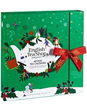 English Tea Shop - Book Style Green- Advent Calendar - 25 Pyramid Tea Bags, 50g