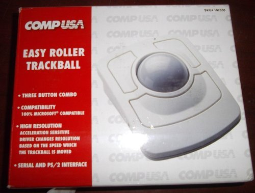 COMPUSA Easy Roller Big Ball Trackball 3 Button Serial PS2 PS/2 Connection - EP20160F Vintage by CompUSA