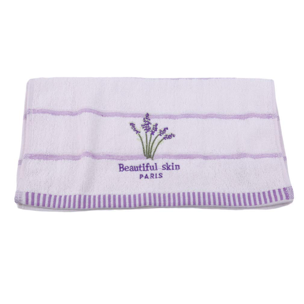Yevison Premium Quality Baby Washcloths Lavender Towel Ultra Soft Hypoallergenic Towels Perfect for Sensitive Skin Reusable Wipes,White by Yevison