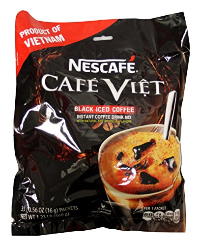 即溶越南黑冰咖啡 Nescafe Cafe Viet Black Iced coffee instant coffee drink mix - 35 Packets/1.23lb