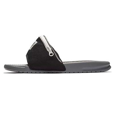Nike Benassi JDI Fanny Pack Slides (9, Grey/Black) | Sport Sandals & Slides