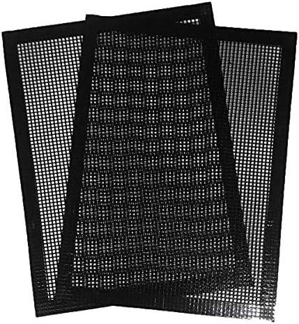 Tiamu Lot de 2 tapis de barbecue antiadhésif anti-adhésif pour barbecue