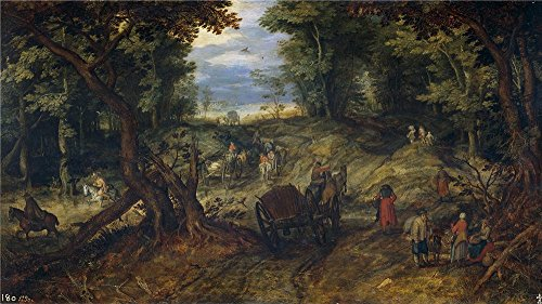 The High Quality Polyster Canvas Of Oil Painting 'Brueghel The Elder Jan Un Bosque Last Quarter Of 16 Century First Quarter Of 17 Century ' ,size: 24 X 43 Inch / 61 X 109 Cm ,this Cheap But High Quality Art Decorative Art Decorative Canvas Prints Is Fit For Gym Decoration And Home Artwork And Gifts