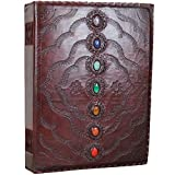 7 Stone Leather Journal X-Large Unlined Sketchbook Notebook Scrapbook 14'' X 18'' by Ferus & Fivel