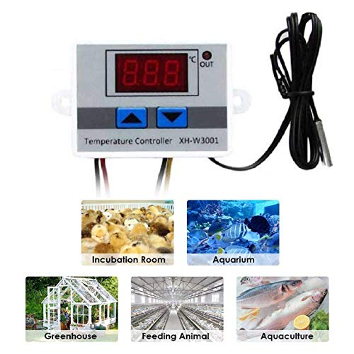Quick Sense Digital 230V AC LED Digital Temperature Controller with Thermocouple Sensor Price & Reviews