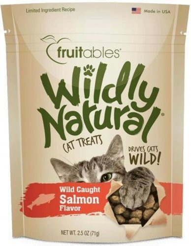 Fruitables Wildly Natural Salmon Cat Treats 2.5 Ounce