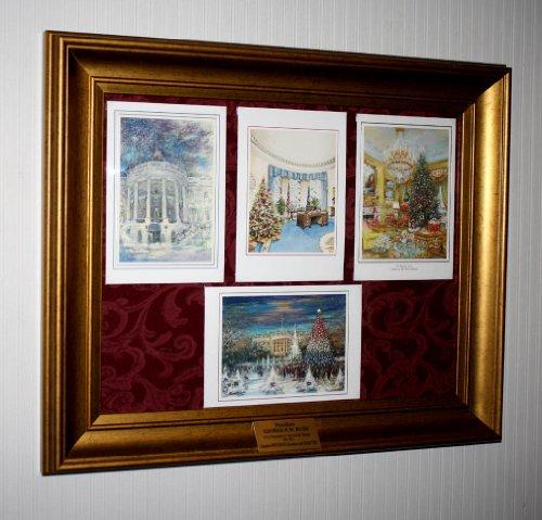 Frame Bush (President George & Barbara BUSH WHITE HOUSE CHRISTMAS CARD Collection, Frame, COA)