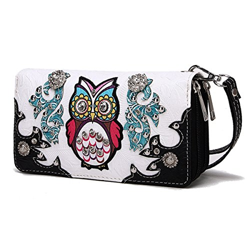 Blancho Bedding Western Style Uil WALLET-BLACK