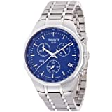 Tissot Men's T0774171104100 Silver/Blue Stainless steel Watch