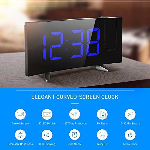 Review Projection Clock, Pictek 5″