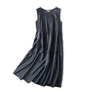 Vestido de Mujer Falda Acampanada Falda Plisada Gris Oscuro Falda ...