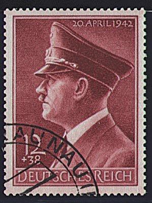 744 gestempelt Hitlers 51 Goldhahn Deutsches Reich Nr Geburtstag 1940 Briefmarken f/ür Sammler