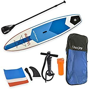 "Uenjoy Inflatable Sup 11'30""x6"" All Around Paddle Board, W/Full Accessories, Perfect for Yoga Fishing Touring"