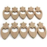 Product review for Wendysun 10pcs Beech Wood Radish Handmade Wooden Rings Toys DIY Pendent Set