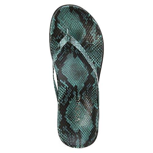 Zapatos cuero abierto Vionic Zapato altura Verde tacón de Chanclas Selena mujer Corfú dedo de mm 15 EwvEHqf