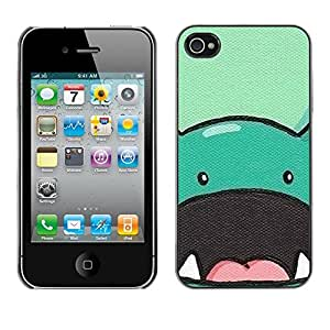 LOVE FOR iPhone 4 / 4S Dinosaur Cute Animal Drawing Cartoon Personalized Design Custom DIY Case Cover