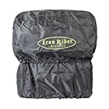 Iron Rider by Dowco 50149-00 Waterproof Motorcycle Luggage Rain Hood: Black, Universal Fit