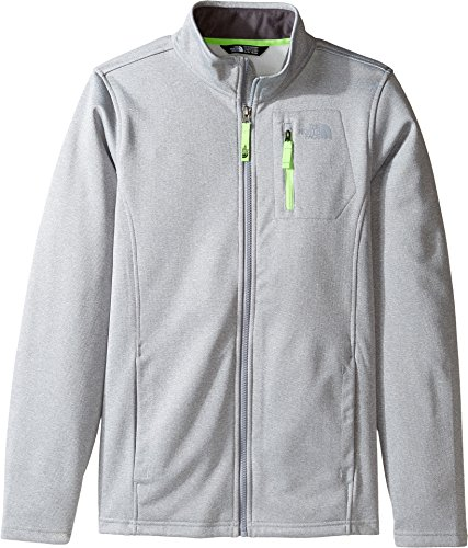 The North Face Kids Boy's Canyonlands Full Zip Jacket (Little Kids/Big Kids) TNF Light Grey Heather (Prior Season) (North Face Mountain Light Jacket)