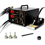 YAOGONG 2 in 1 SMD Digital Rework Soldering Station Hot Air Lead-Free Soldering Iron 852D+
