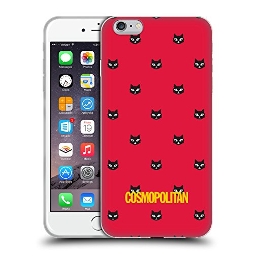 Official Cosmopolitan Red Lovey The Cat Soft Gel Case for Apple iPhone 6 Plus / 6s Plus