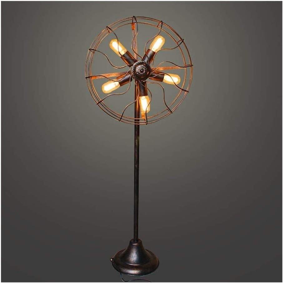 5 Luces de América del ventilador Lámpara de pie retro industrial jaula de alambre de metal E27 / E26 Hierro forjado del tubo de agua de la lámpara de pie for sala de estar dormitorio de noche la luz