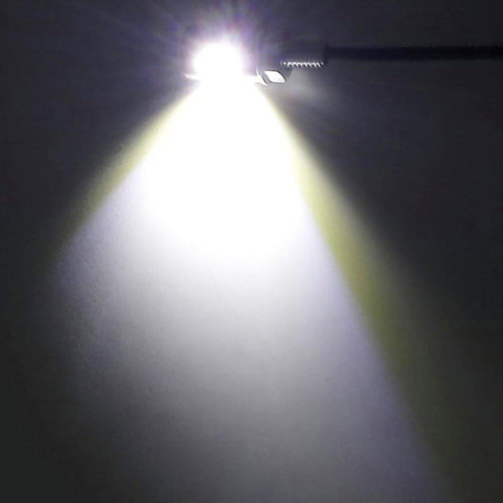 TABEN Lot de 2 phares /à LED 12 mm pour Moto Bateau Voiture