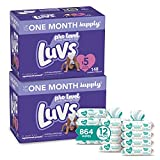 Luvs Baby Diapers and Wipes 2 Month Supply - Two
